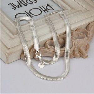 Sterling silver plated snake chain